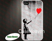 Banksy Balloon Girl iphone 4 Case Cover, iPhone 4s Case, iPhone 4 Hard Case, iPhone Case