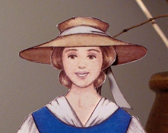 Paper Doll - Louisa May Alcott - Historical Paper Doll Set