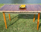 Salvaged Wood Kitchen Table - PLANKfurniture