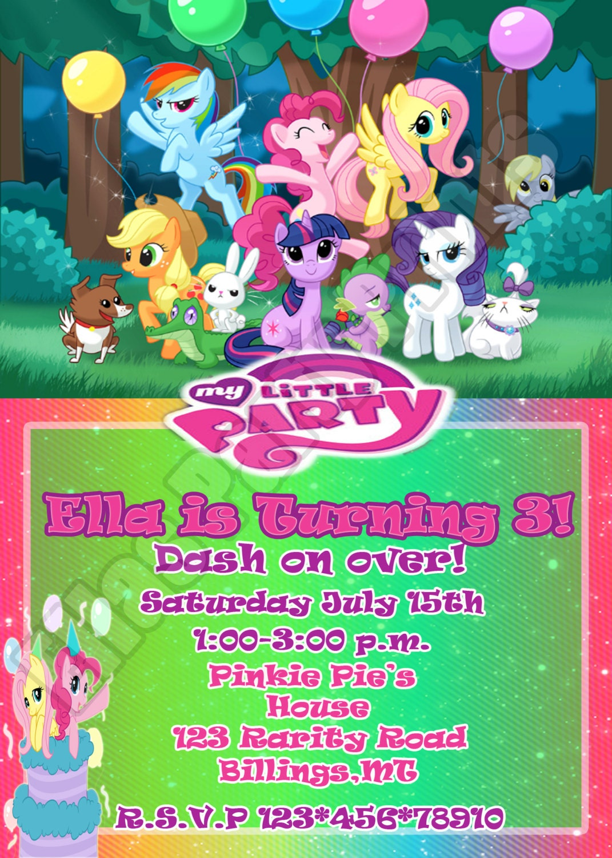 Pony Party Invitation is nice invitations layout