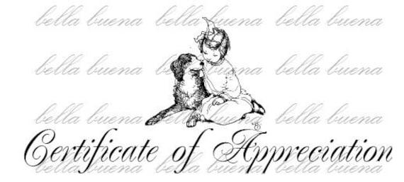 Vintage Illustration of a Girl and Her Loving Dog  - Digital Image Download Transfer Clip Art Graphic - 1014