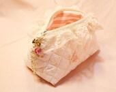 Small Brissa Cosmetic Bag and Swarovski Crysal Zipper Pull