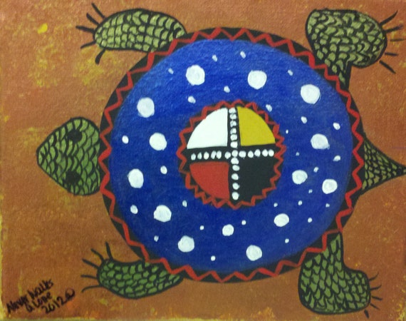 Native american turtle painting