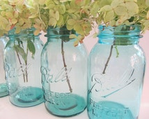 Vintage Blue Ball Mason Quart Jars Can Your Favorite Garden Pick ....