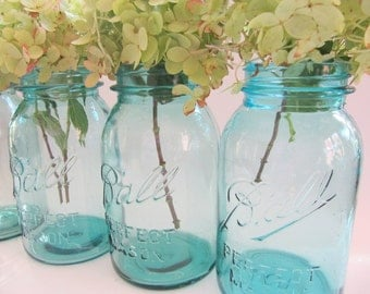 Vintage Blue Ball Mason Quart Jars Can Your Favorite Garden Pick ....