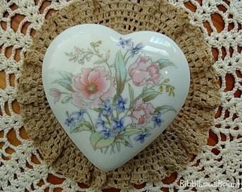 Vintage Heart Shaped Trinket Box Japan