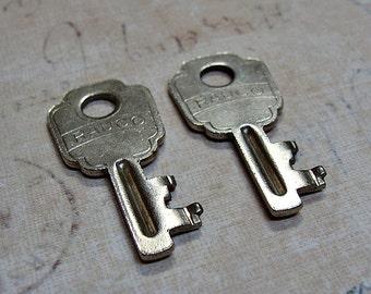 2 Vintage Keys RAUCO Matching Set