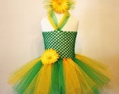 Green Gold Sports Colors Tutu Dress - newborn thru Girls 12