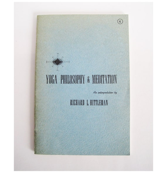rare 1964 Yoga Philosophy & Meditation booklet by Richard L. Hittleman