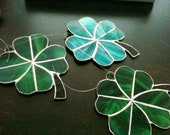 Stained glass lucky four leaf clover
