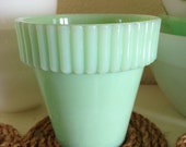 Fenton Martha Stewart by Mail MBM Jadite Flower Pot Planter