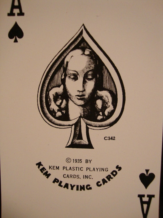 KEM Plastic Playing Cards - Copyright 1935. Two Complete Decks in Original Box. Amazing Condition. PRICE REDUCED
