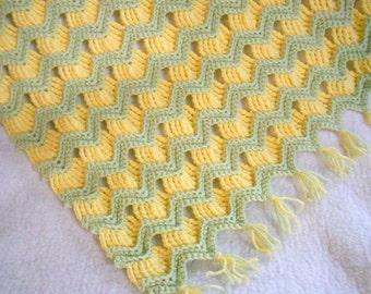 Crochet Pattern - Grandma's Ripple Baby Afghan