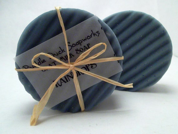 Raindrops Goat Milk Soap with Olive Oil, Rice Bran Oil, and Shea Butter for Healthy, Glowing Skin