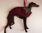 Whippet Christmas Tree Decoration
