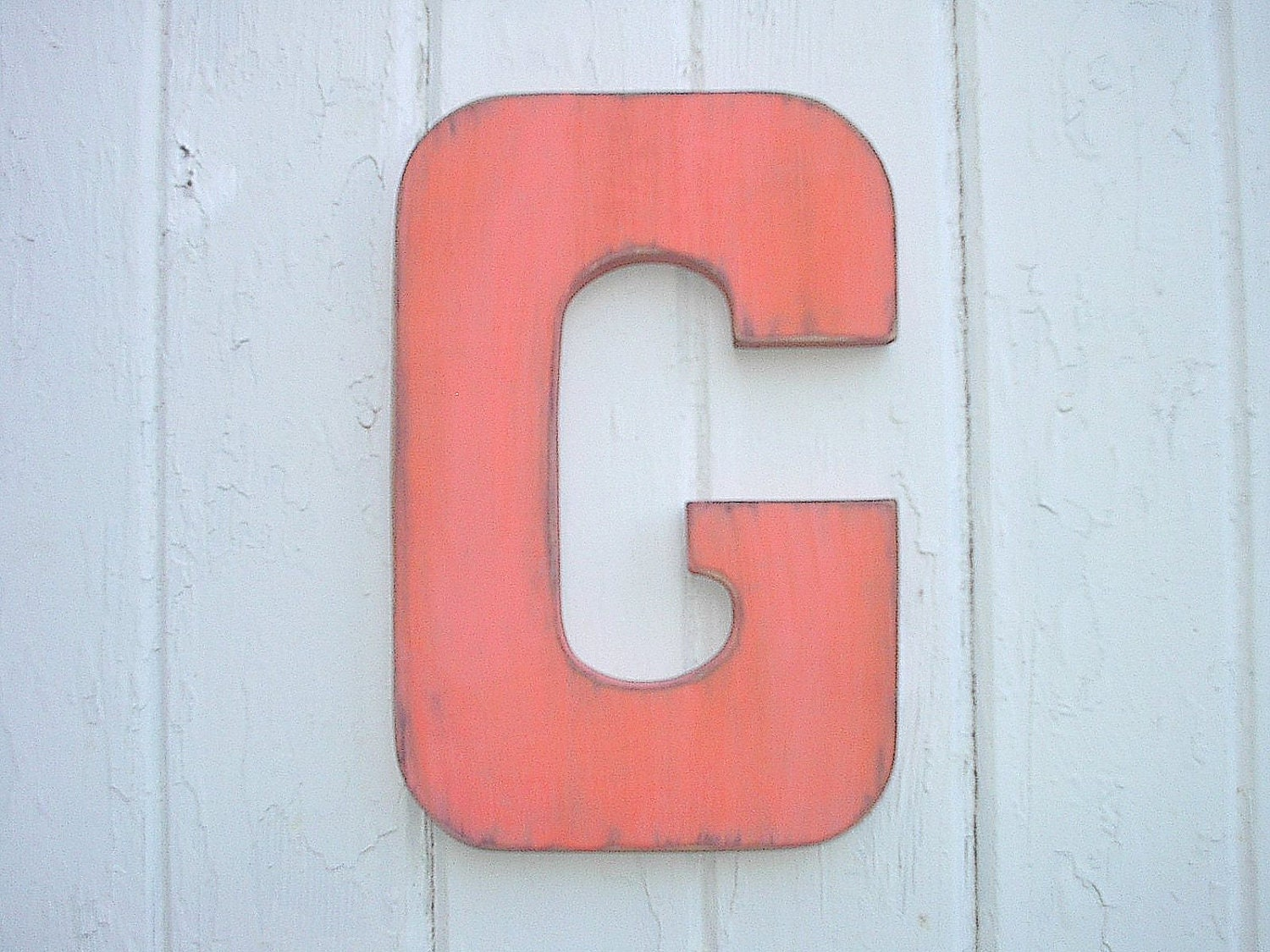 Wooden Wall Letter G Big 12 Letter Vintage Style By