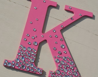 """9"""" Hot Pink Bling Sparkle Wall Letters"""