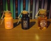 Colliers Harry Potter : Bierraubeurre, Whisky Pur Feu et Jus de Citrouille