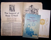 Kewpie Doll Creator Rose O'Neill - Vintage Book and Newspaper Article About Her Life and Career
