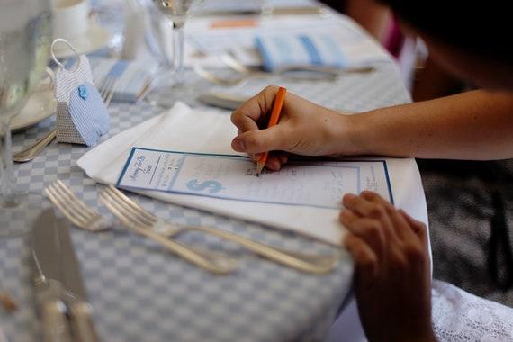 Custom Wedding, Engagement Party & Shower Trivia Game Cards - Deposit