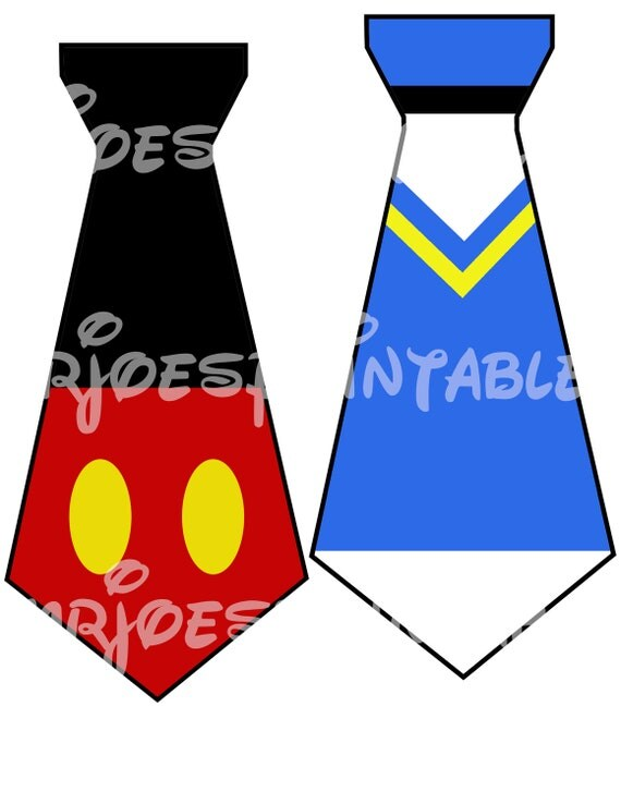 Items Similar To Mickey Mouse Pals Ties Printable Disney