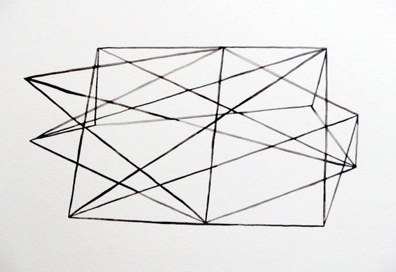 Modern Lines II - Original Watercolor