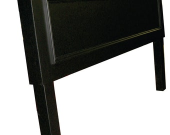 Headboards made from doors - One Panel Queen size headboard with legs - Onyx Black