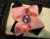 Pink & Black..My Mommy makes My Hair Bow Boutique Hair Bow