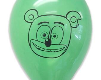Gummibär The Gummy Bear Pack of 8 Green Party Balloons