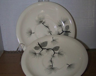 Harker Pottery Saucers Pine Cone Saucers Harker Pinecone China