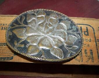 Brass Belt Buckle Vintage Hammered Brass Buckle