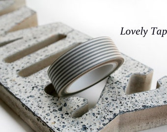 Washi Tape-Gray Stripe