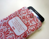 Kindle Paperwhite cover, Red ornament quote, Custom 7 in tablet case, Kindle HDX 7 sleeve, padded gadget case, gadget cover, Kindle sleeve
