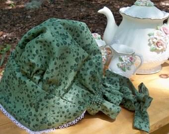 Gracie's Sun Bonnet - Green, Toddler