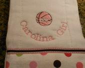 Carolina Girl Burp Cloth