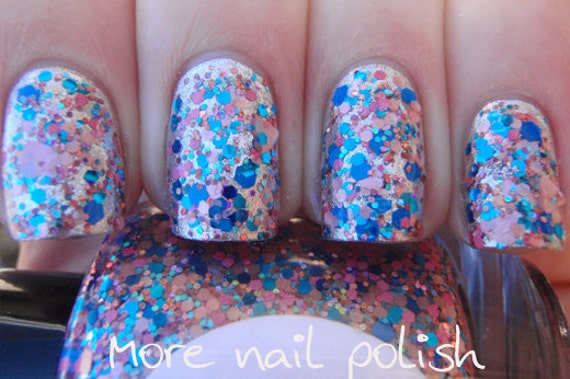 I Heart You Hand made custom nail polish from Glimmer by Erica