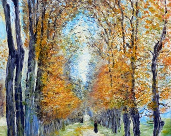 Replica of Monet's The Avenue - 100% hand painted oil on canvas