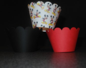 Disney Mickey Mouse Cupcake Wrapper- Set of 12