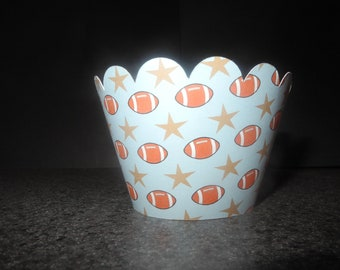 Football Cupcake WrapperS- Set of 12 Sports pop warner All Star