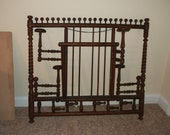 Antique Oak Stick and Ball Hat Rack - Circa 1890s