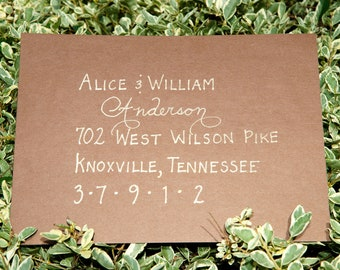 Custom Handwritten Wedding Calligraphy Envelope Addressing, Place Cards, Escort Cards, Invitations, Seating Charts, Menus