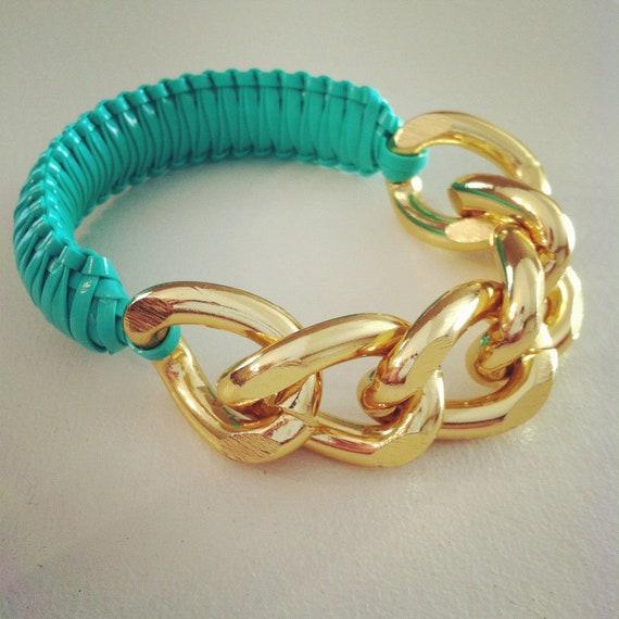 Wrist Soiree: Jada Bracelet Mint (Goldtone)