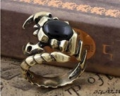Vintage Jewelry -Scorpion adjustable ring winter and halloween gift,October trends, for her, gift for her and him