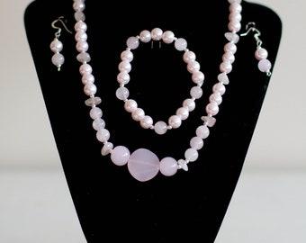 Pale Pink Pearl Set