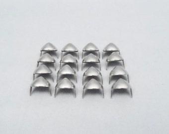 100 Silver Half Inch (12mm) Cone Studs