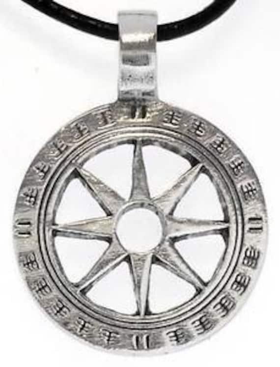 Pewter Wheel of Life Tibetan Buddha Yoga Namaste Meditation Pendant (31I)