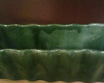 Vintage Treasury Item Hull F47 USA Dark Green Rectangle Shaped Planter