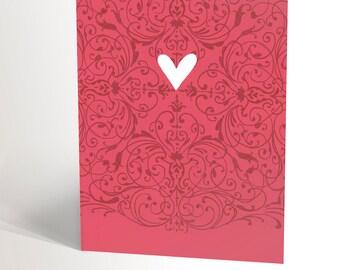 Pink baroque HEART