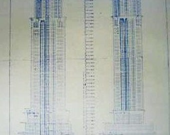 Chrysler Building In New York Blueprint