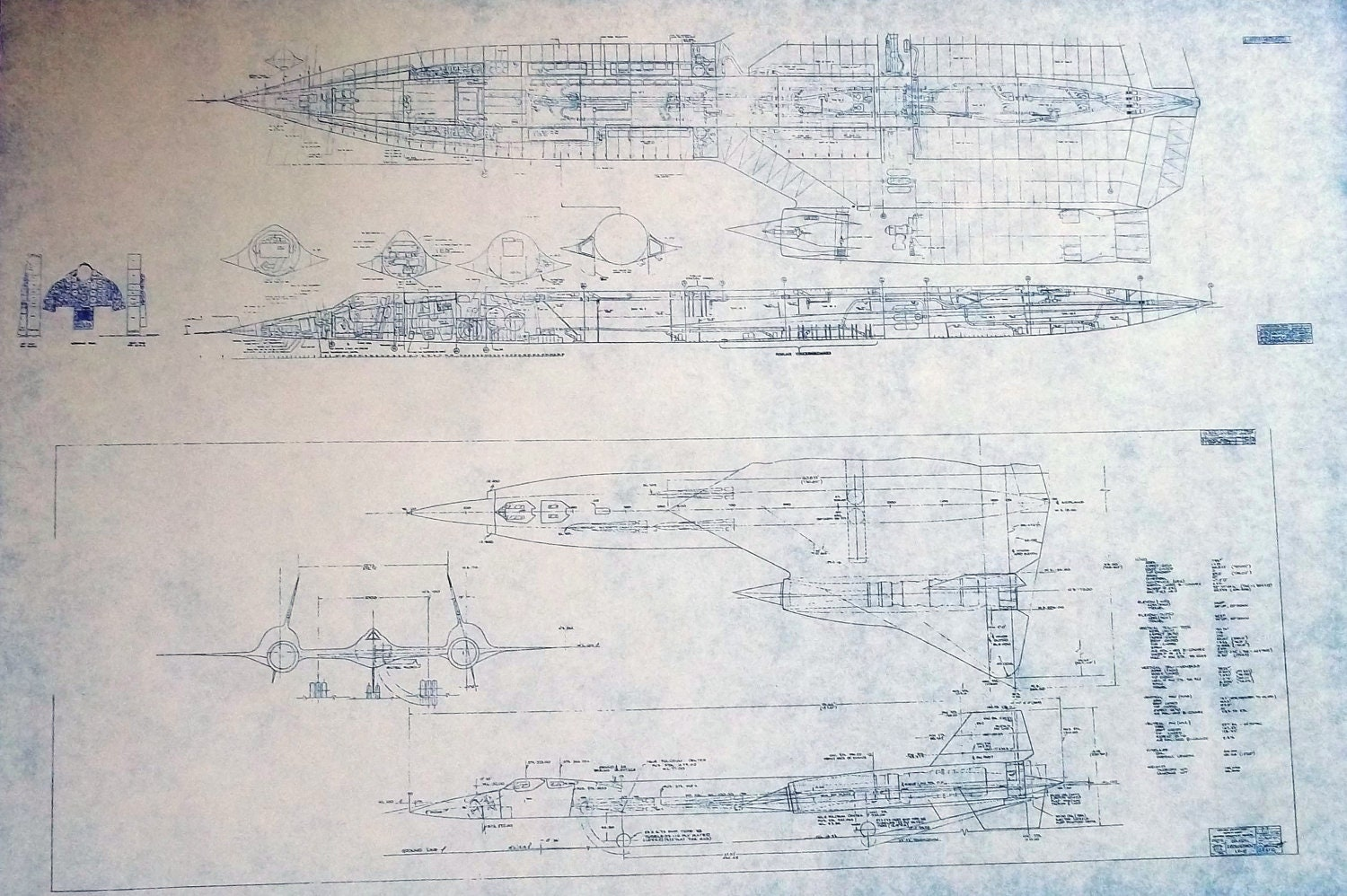 SR-71 Blackbird General Arrangement Blueprint by ...